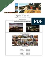Agadir to Do List