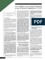 Analisis Cambios en La Ley Penal Tributaria