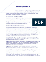 Advantages of FDI