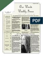 Newsletter Volume 9 Issue 42