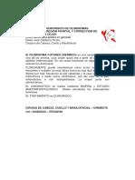 TRATAMIENTO QUIRÚRGICO DE CILINDROMAS CUTÁNEOS EN REGIÓN FRONTAL y  PTOSIS DE LAS CEJAS.