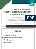 Sistema de Ventilación Mina El Teniente Subterranea Presente y Desafío Futuro - Roberto Mejías