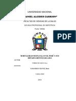 Monografia de MORTALIDAD NEONATAL EN EL PERÚ Y SUS DEPARTAMENTOS 2011-2012