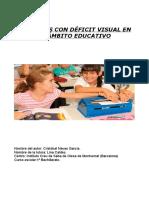 Los Niños Con Déficit Visual en el ámbito Educativo