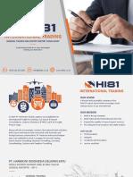 HI81 Profile and Catalogue English 1.0