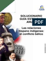 Solucionario guía práctica Las relaciones hispano indígena el conflicto bélico 2015.pdf