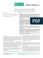 Cumulative Mean of the Laboratory Tests on Risk Prediction Model for Adult Intensive Care Patients
