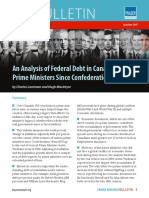 Analysis of Federal Debt in Canada by Prime Ministers Since Confederation