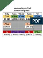 collaborative planning schedule