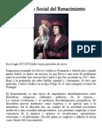 El Renacimiento y Su Contexto Social
