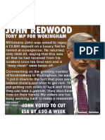 Millionaire John Redwood Knighted for Increasing UK Poverty, Having Voted...