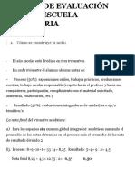 SISTEMA DE EVALUACIÓN PARA LA ESCUELA SECUNDARIA - Escuela del Magisterio