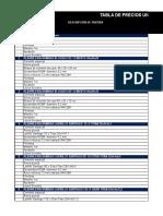 Tabla de Precios Unitarios PPPF 2018 DITEC - SERVIU
