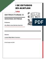 Estructuras II. Segunda Entrega_ Mario Lozano
