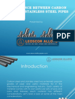 Know Difference Between Carbon Vs Stainless Steel Pipes by Leoscor Alloys