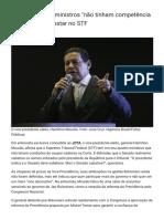 Mourão_ Alguns Ministros _não Tinham Competência Nenhuma_ Para Estar No STF - JOTA Info