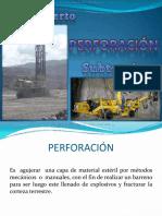 Sistemas Perforacion Mineria Cielo Abierto y  Subterranea