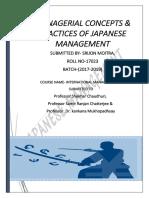 Japanese Management Concepts