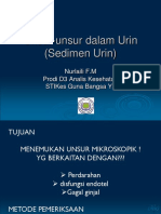 Pertemuan 5 Unsur-unsur Dalam Urin (Sedimen Urin)