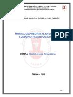 MORTALIDAD NEONATAL EN EL PERÚ 2011-2012
