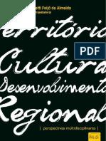 Territórios Cultura e Desenvolvimento Regional