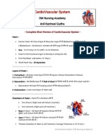 Cardiovascular Short Notes Review 1
