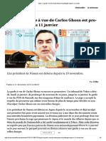 Japon - la garde à vue de Carlos Ghosn est prolongée jusqu'au 11 janvier