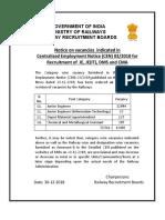 Notice CEN032018 Vacancy