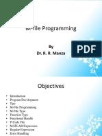 4) M-file Programming
