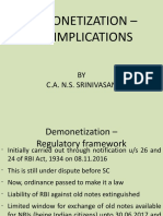 4 Demonetization Currency Tax Implications CA NS Srinivasan