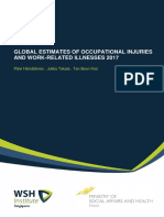 Global Estimate of Occupational Injuries and Workrelated Illnesses 2017