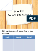 2. Sounds and Actions