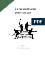 SRF Enkät 2018 - Rapport