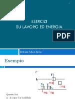 Esercitazioni 6 Energia Lavoro