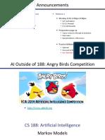 SP14 CS188 Lecture 13 -- Markov Models
