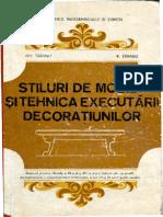 Stiluri de Mobila Si Tehnica de Executarii Decoratiunilor Gh Taranu R Taranu Bucuresti-1991