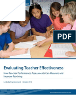 Evaluating Teacher Effectiveness