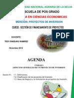 Sesión 1 Generalidades de los Proyectos de Inversion