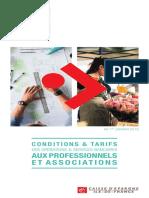 Tarification Pro Assoc 2018 Idf