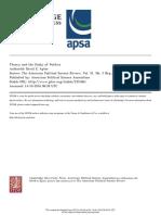 APTER, David. Theory and Study of Politics