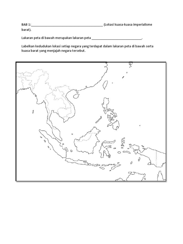 Label Peta Kosong Asia Tenggara