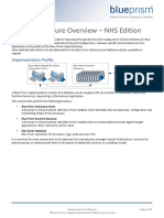 Blue Prism Data Sheet - Infrastructure Overview v5.0 NHS Edition
