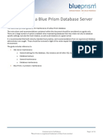 Blue Prism Data Sheet - Maintaining a Blue Prism Database Server