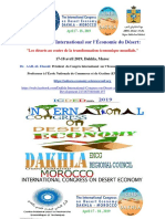 Le 2ème Congrès International Sur l'Économie Du Désert Dakhla Avril 2019 AAILAL Elouali