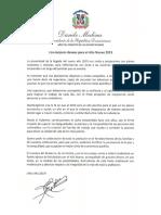 Mensaje del presidente Danilo Medina con motivo del Año Nuevo 2019