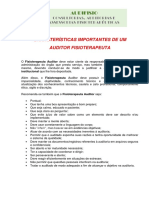 Características Importantes Para Um Auditor Fisioterapeuta