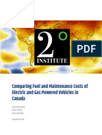 Comparing Fuel and Maintenance Costs of Electric and Gas Powered Vehicles in Canada