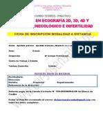 Ficha Eco Doppler 2d 3d 4d