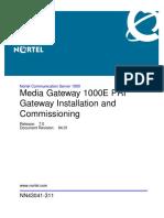 NN43041-311 04.01 Installation MediaGateway1000E PRIGateway