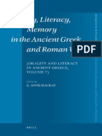 (Mnemosyne Supplements 298) E. A. Mackay (editor)-Orality, Literacy, Memory in the Ancient Greek and Roman World_ Orality and Literacy in Ancient Greece (Mnemosyne Supplements)  -Brill Academic Pub (2.pdf